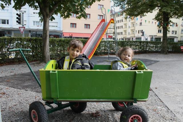 Leiterwagen Kita Kiriku Luzern